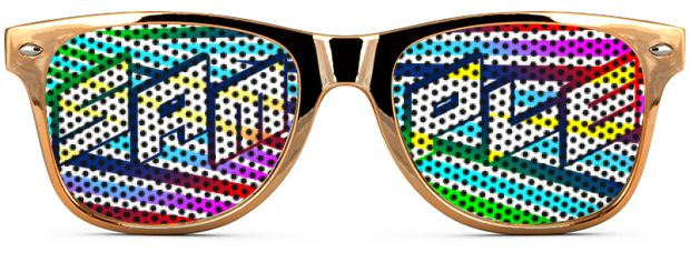 Retro Logo Lenses® Tinted Lenses style Gold