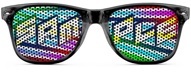 Retro Logo Lenses® Tinted Lenses style Transparent Black