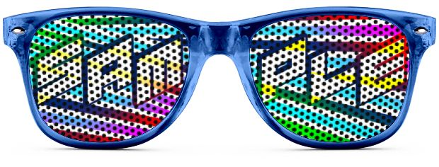 Retro Logo Lenses® Tinted Lenses style Transparent Blue