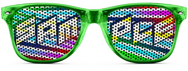 Retro Logo Lenses® Tinted Lenses style Transparent Green