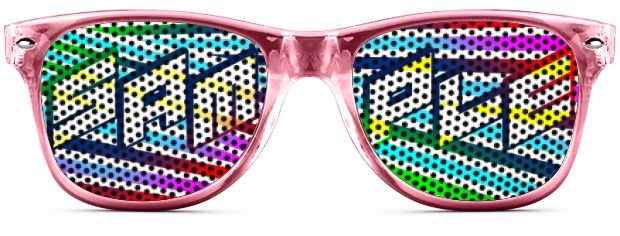 Retro Logo Lenses® Tinted Lenses style Transparent Pink