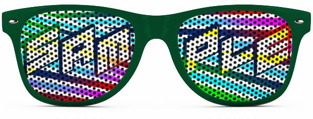 Retro Logo Lenses® Tinted Lenses style Kelly Green
