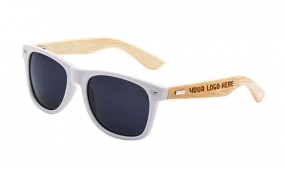 Retro Bamboo Arms Sunglasses