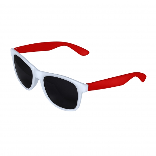 White Front - Red Retro 2 Tone Sunglasses Blank