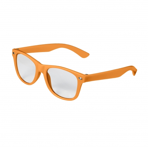 Orange Kid Retro Clear Lenses Blank