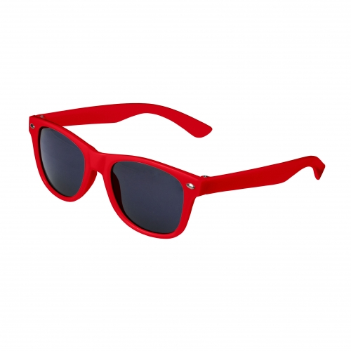 Red Retro Kids Sunglasses Blank