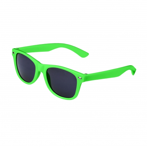 Green Retro Kids Sunglasses Blank