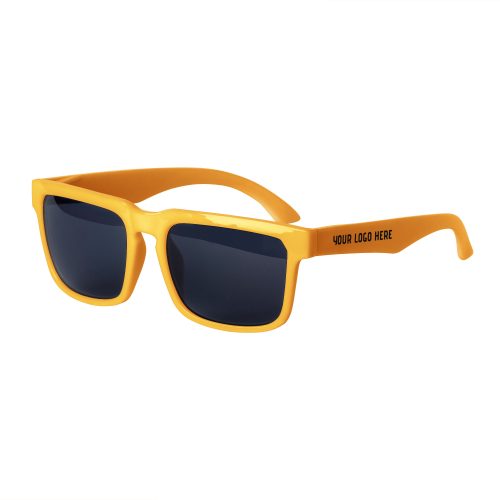 Orange Bold Sunglasses with 1 Color Arm Printed